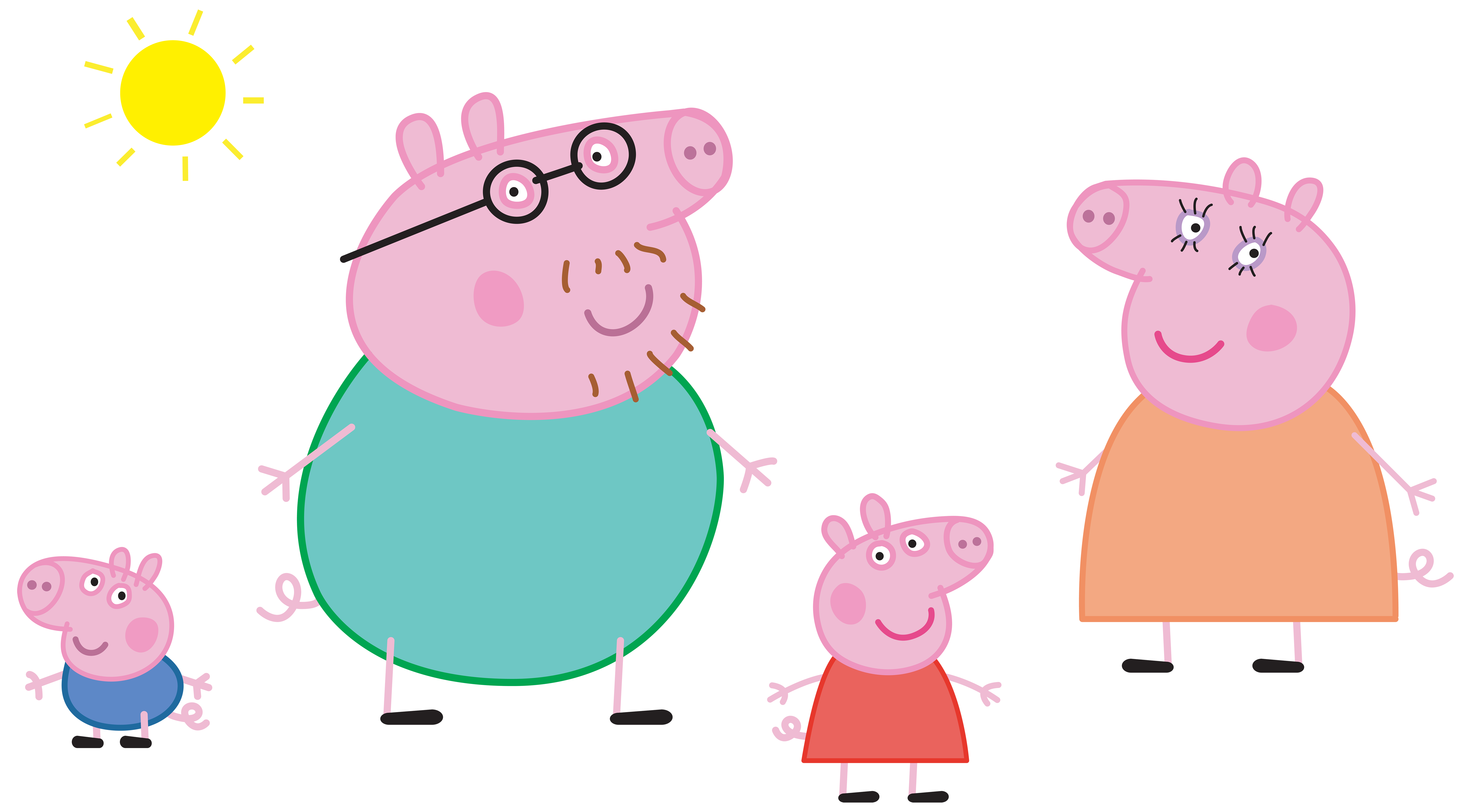 svg library download Pig family logo transparent. Peppa clipart.