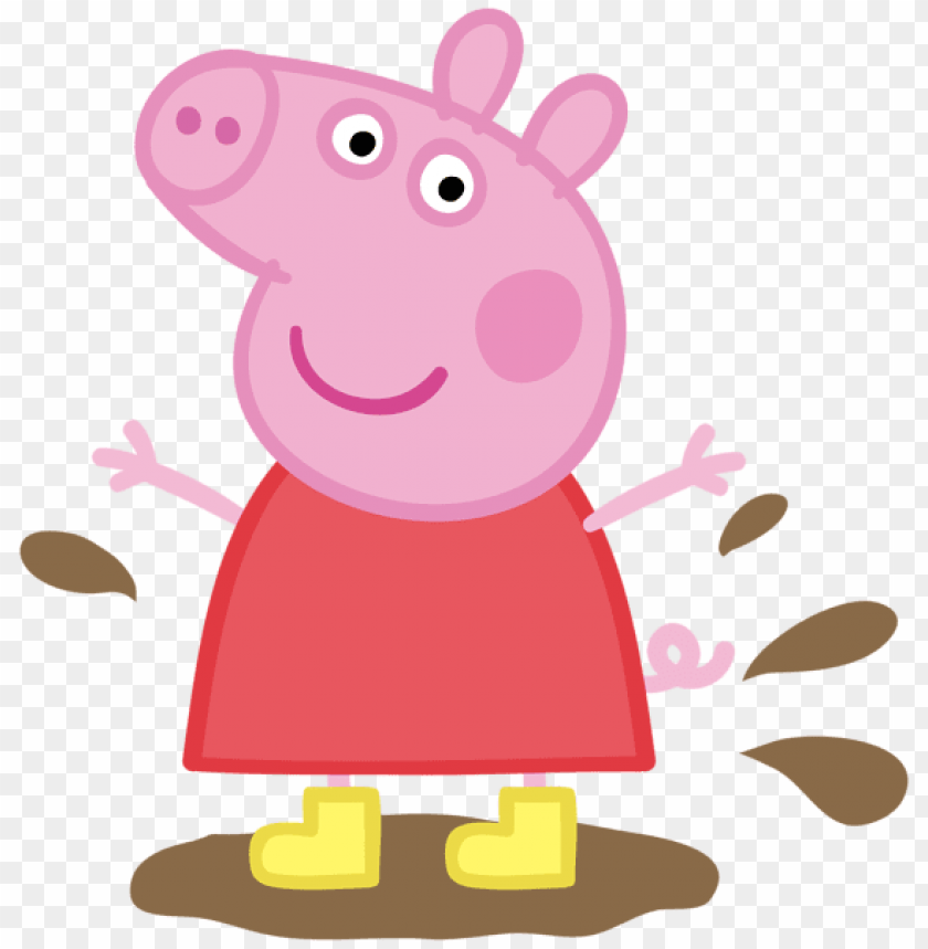 image library library Download pig in muddy. Peppa clipart.