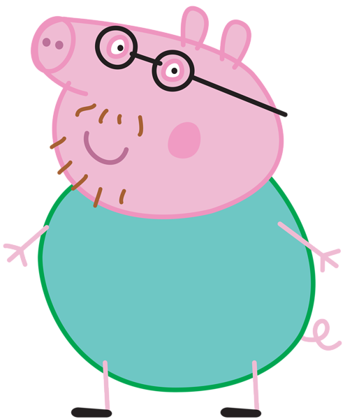 free stock Daddy pig transparent png. Peppa clipart.