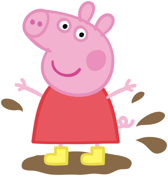 vector free download Peppa Pig in Muddy Puddle Transparent PNG Image