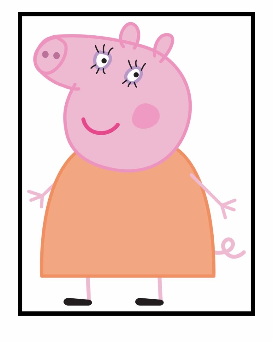 clipart royalty free Peppa clipart mummy pig. Shocking cartoon png u