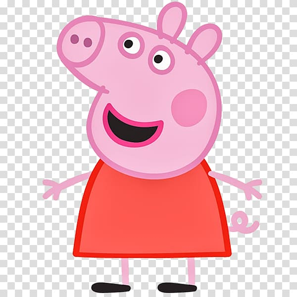 banner black and white Daddy transparent background . Peppa clipart mummy pig