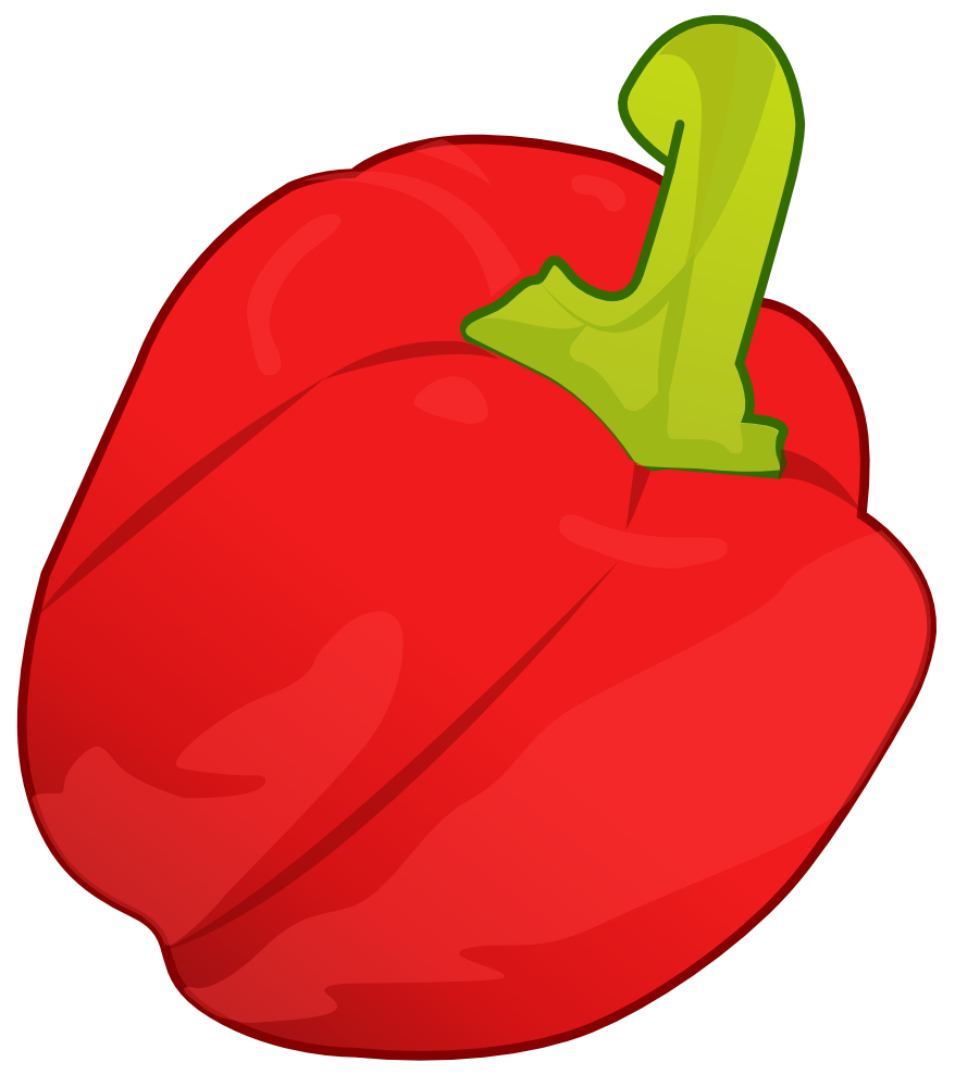 graphic free Red . Pepper clipart.