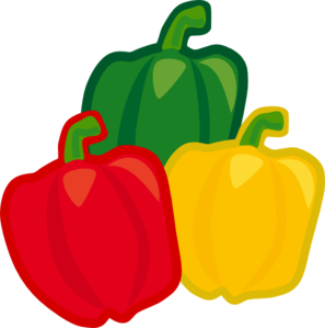 svg black and white Bell pepper . Peppers clipart.