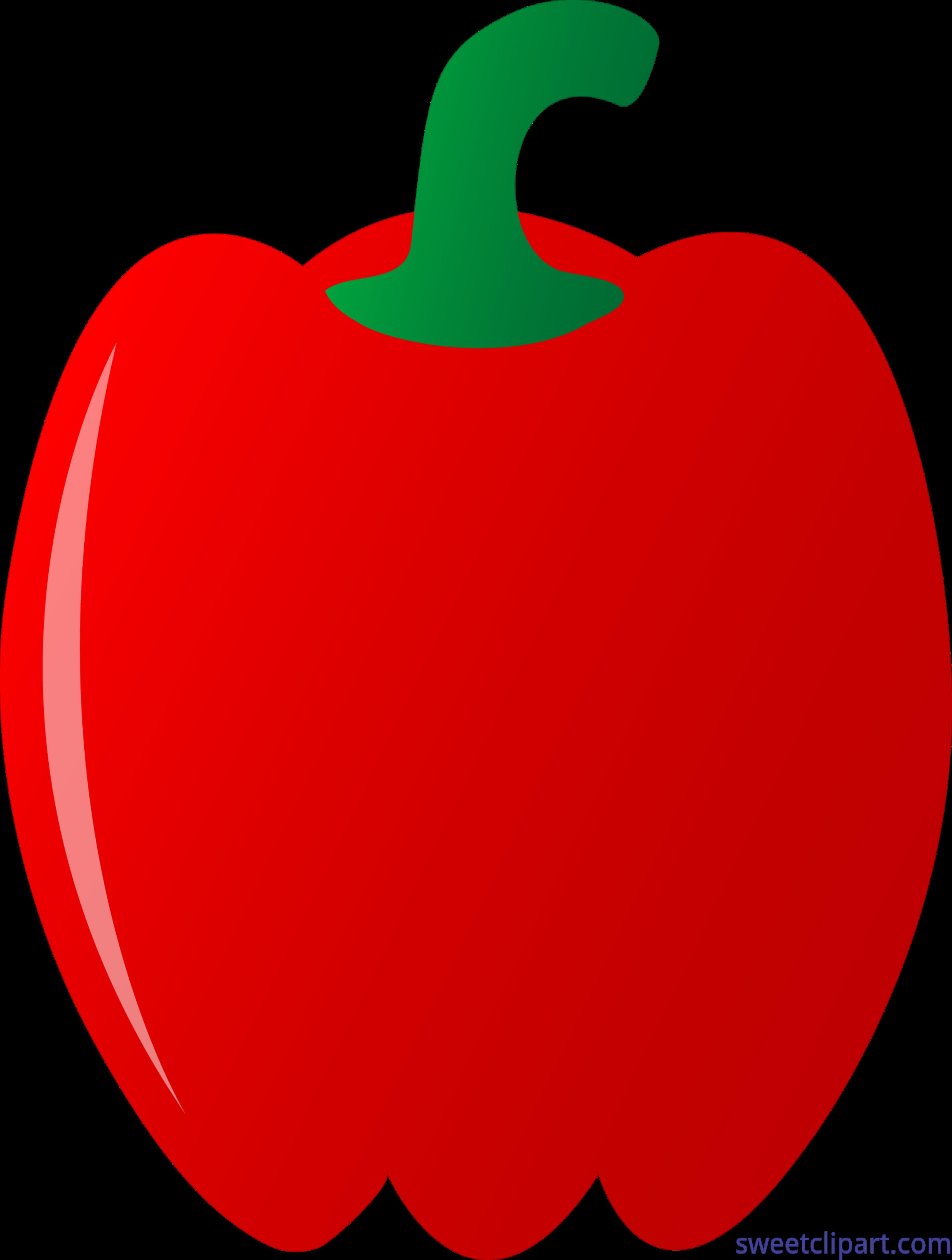clip art transparent download Red Bell Pepper Clip Art