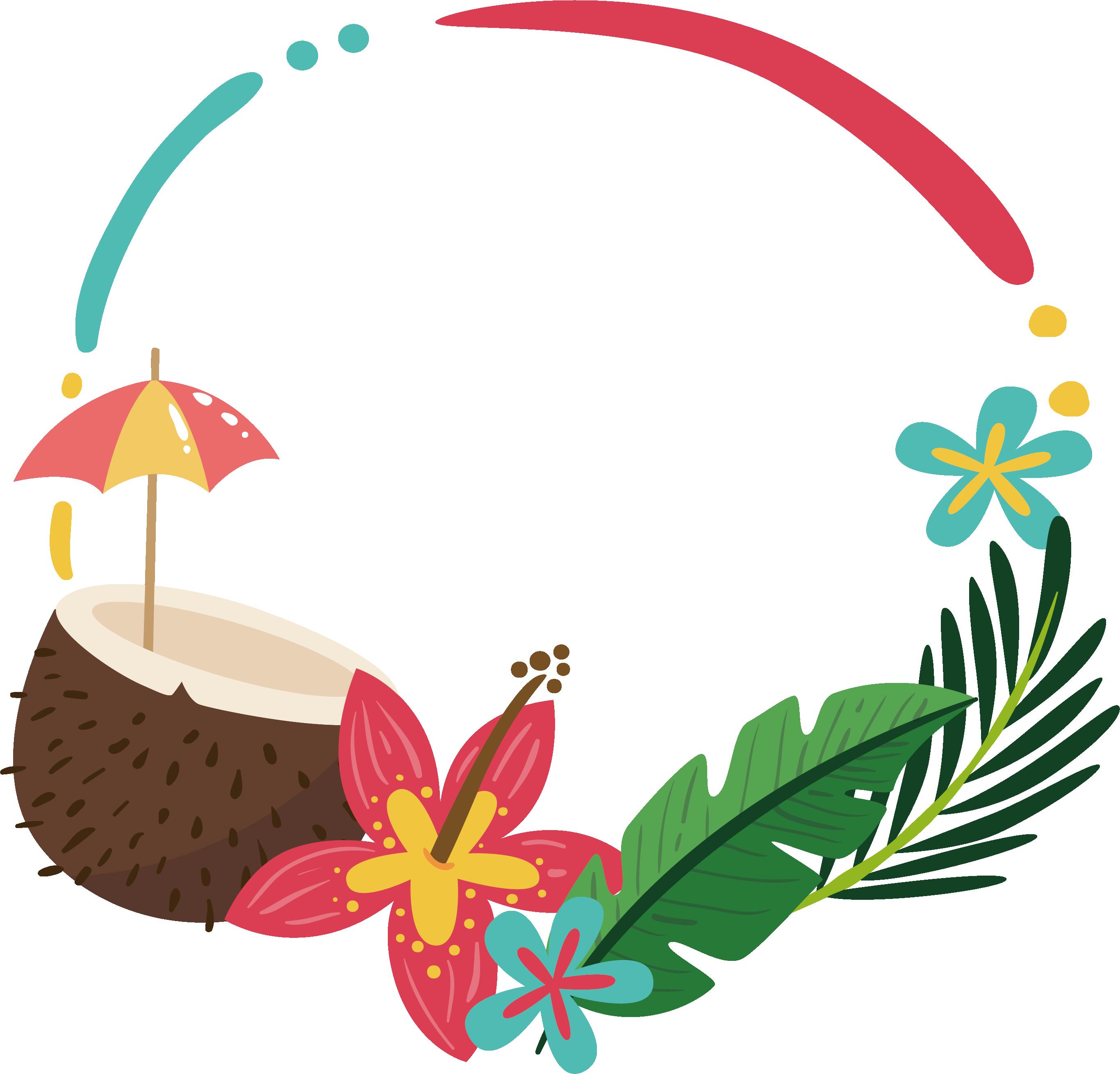 clip transparent stock Summer clipart borders. Clip art coconut palm