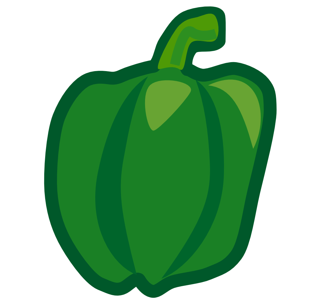 picture stock Half Green Pepper Clipart