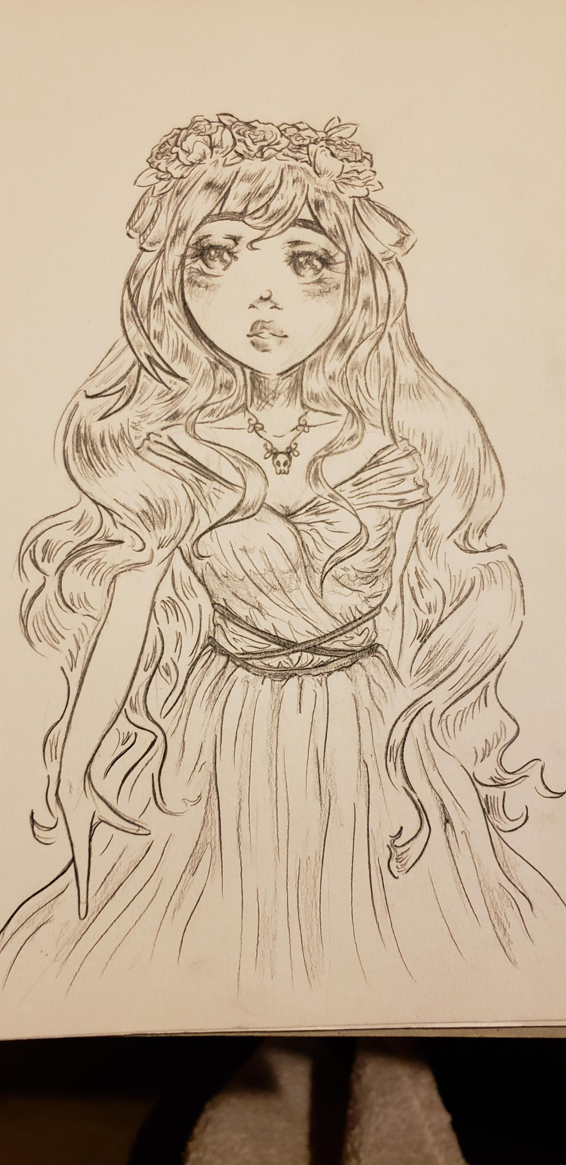 image royalty free stock Persephone drawing. Really happy with my.