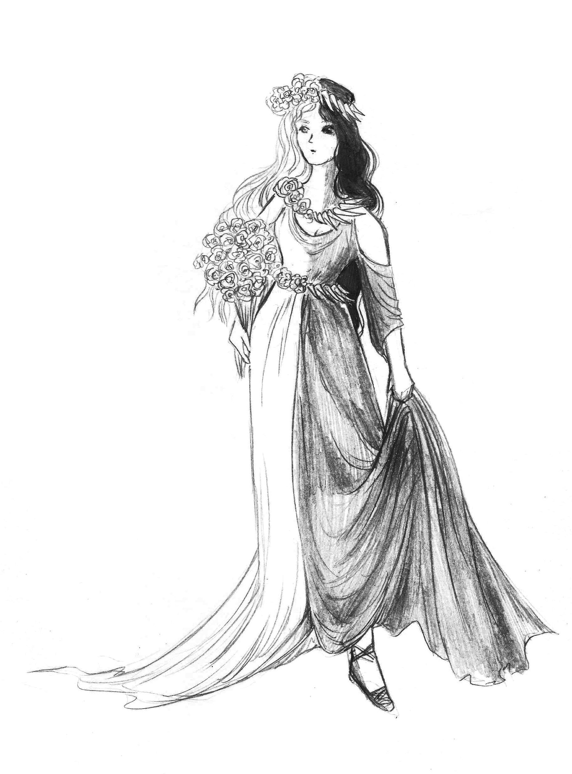 vector library At paintingvalley com explore. Persephone drawing.