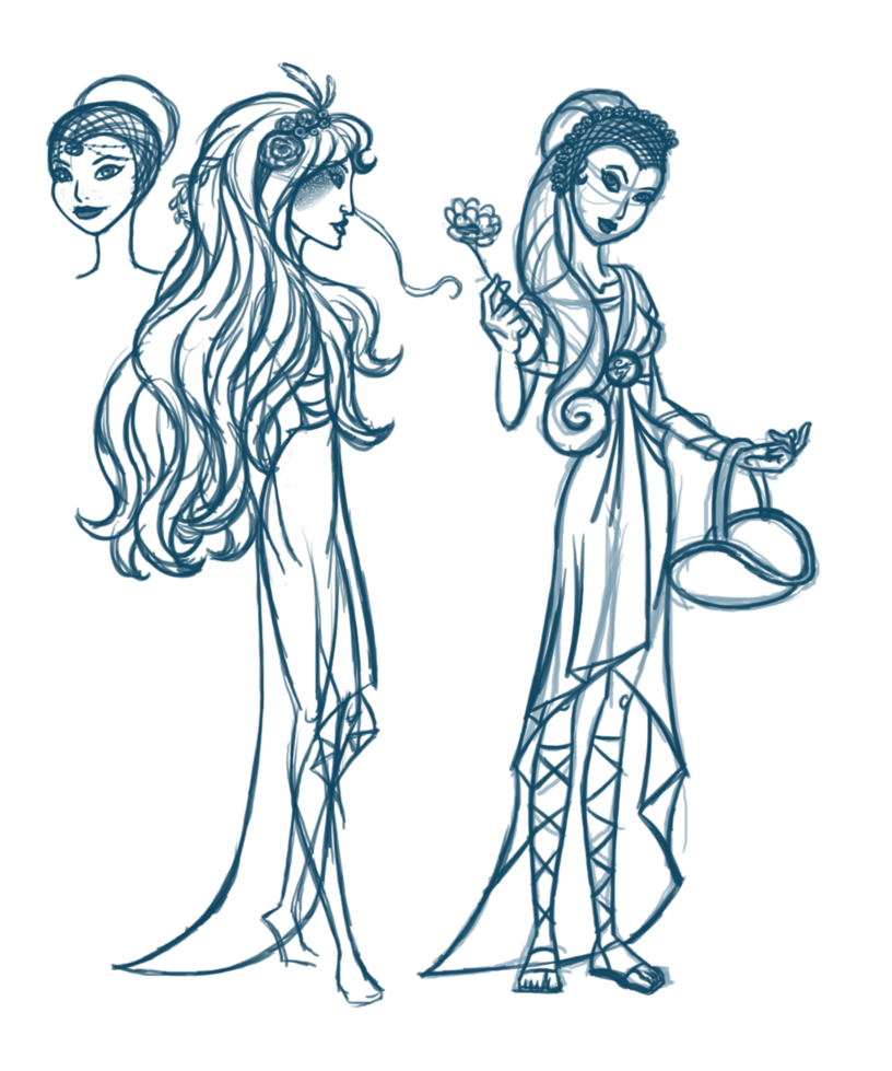 png freeuse library Persephone drawing. Line art homo sapiens.