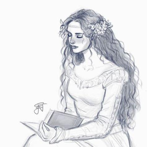 vector Persephone drawing. .