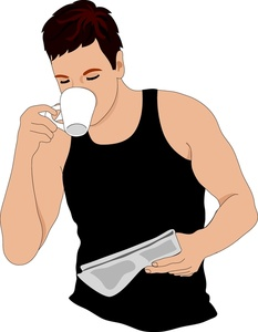 svg black and white stock Free cliparts download clip. Person drinking coffee clipart