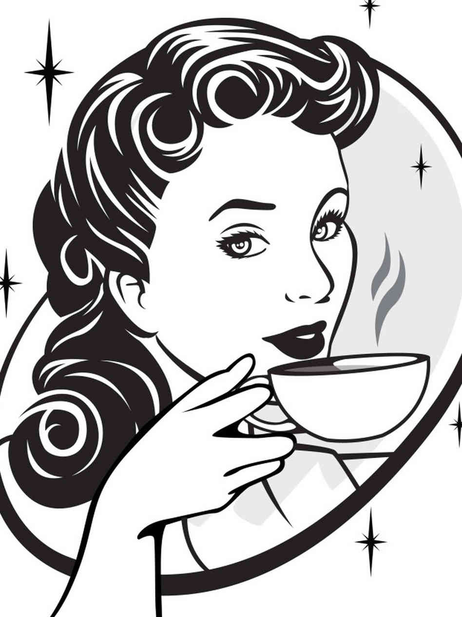 image free download People clip art library. Person drinking coffee clipart