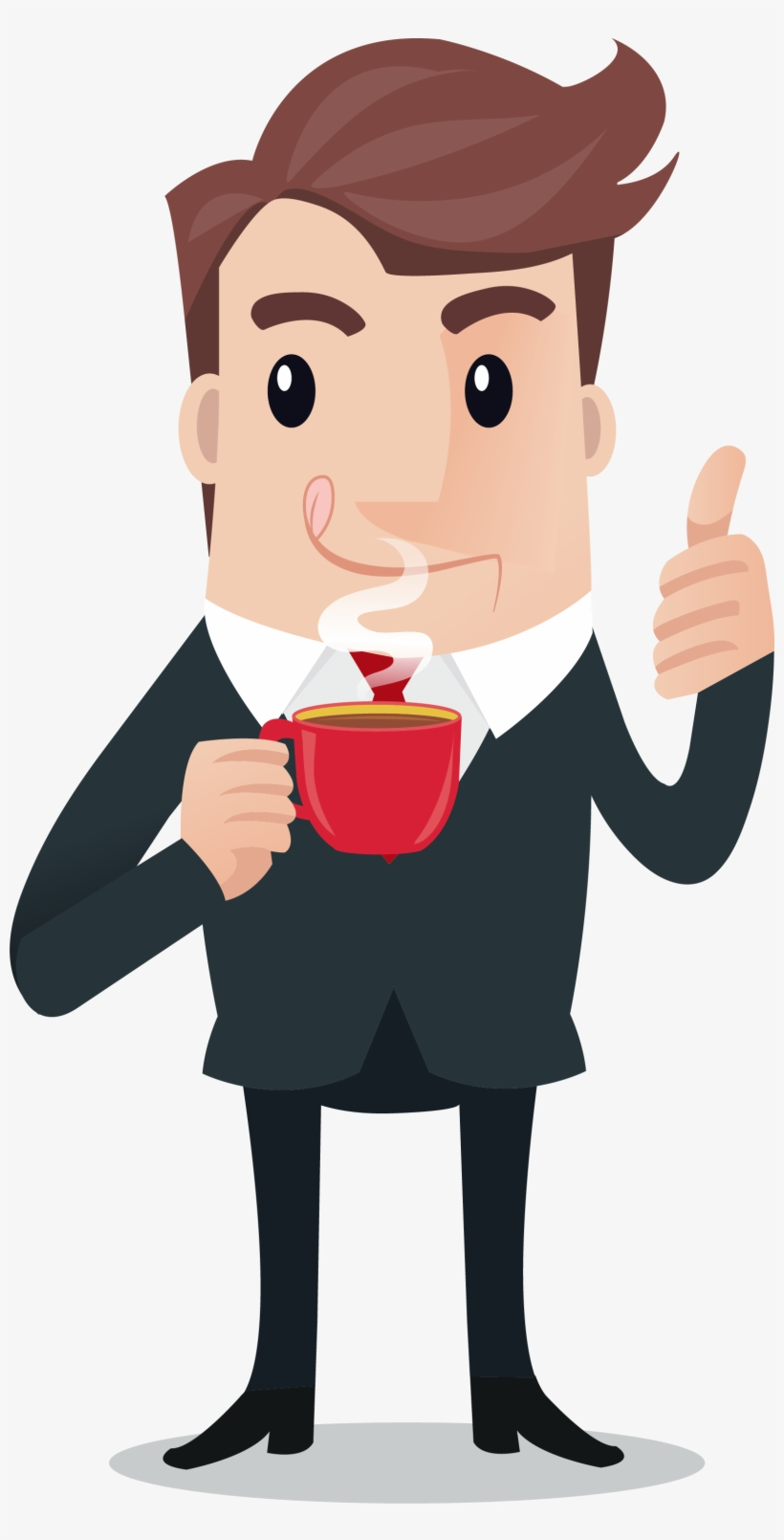 picture library stock Person drinking coffee clipart. Graphic library download caffeine