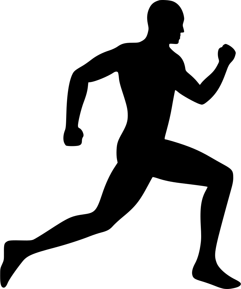 banner freeuse download Silhouette clip art free. Drawing running man