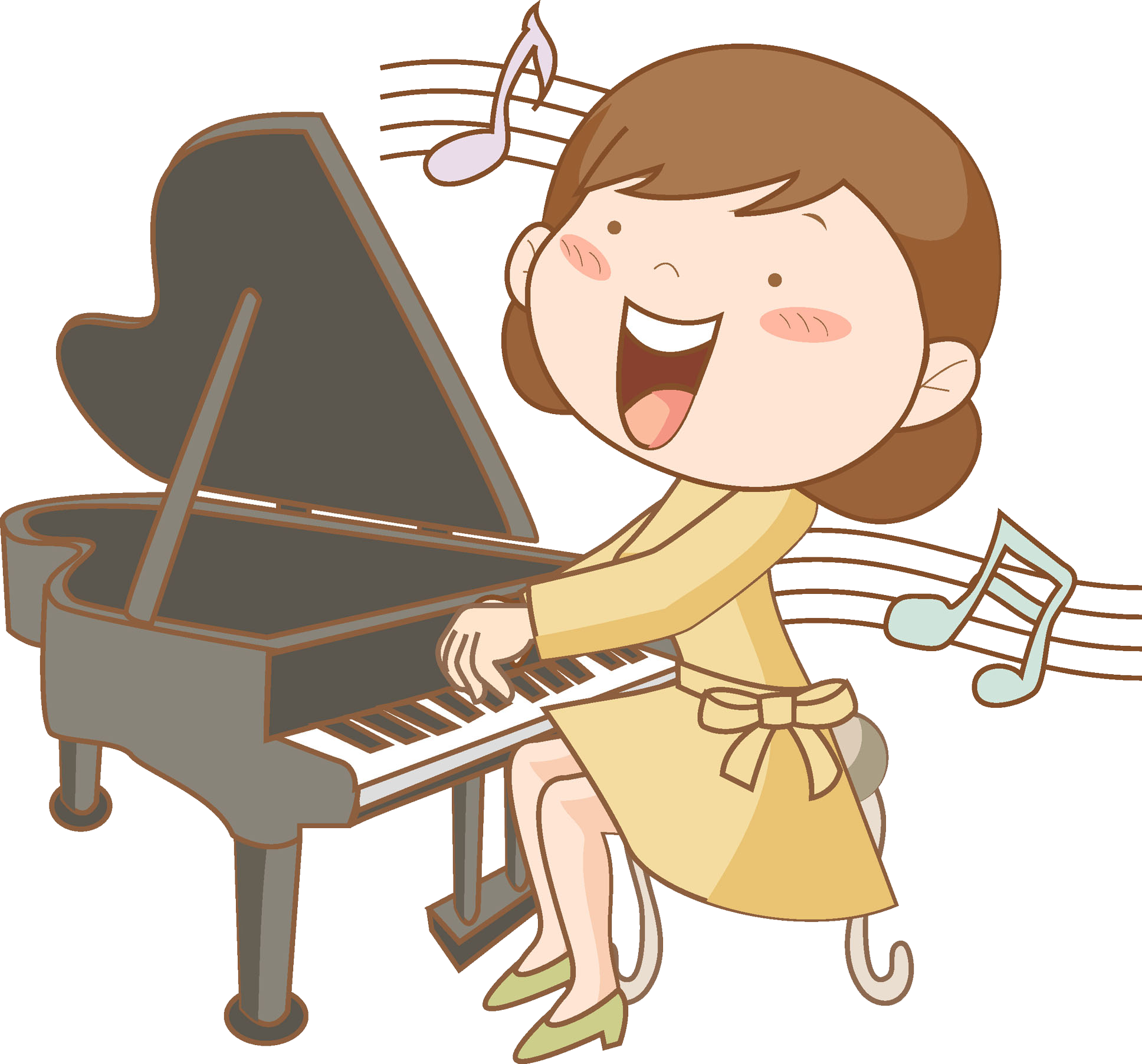svg black and white download Cartoon Drawing Piano Clip art