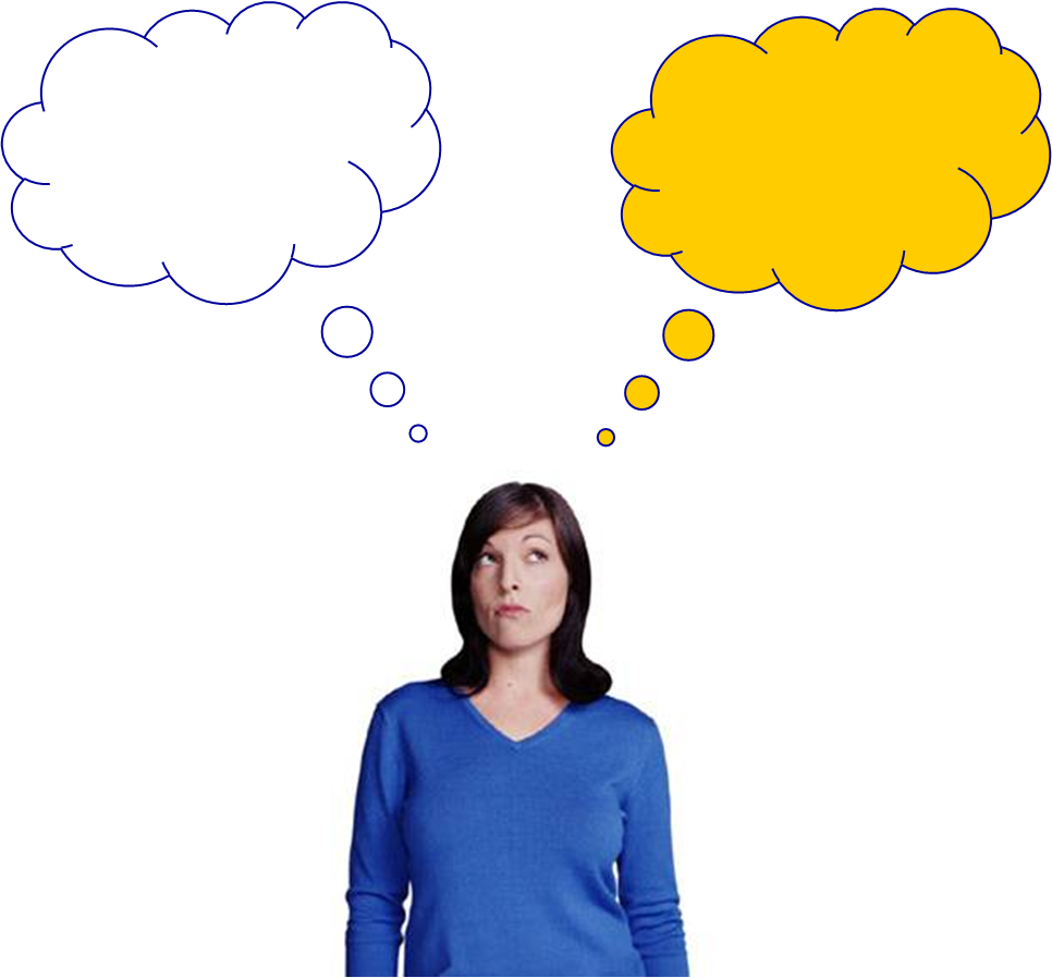 picture freeuse library Person Thinking With Thought Bubble
