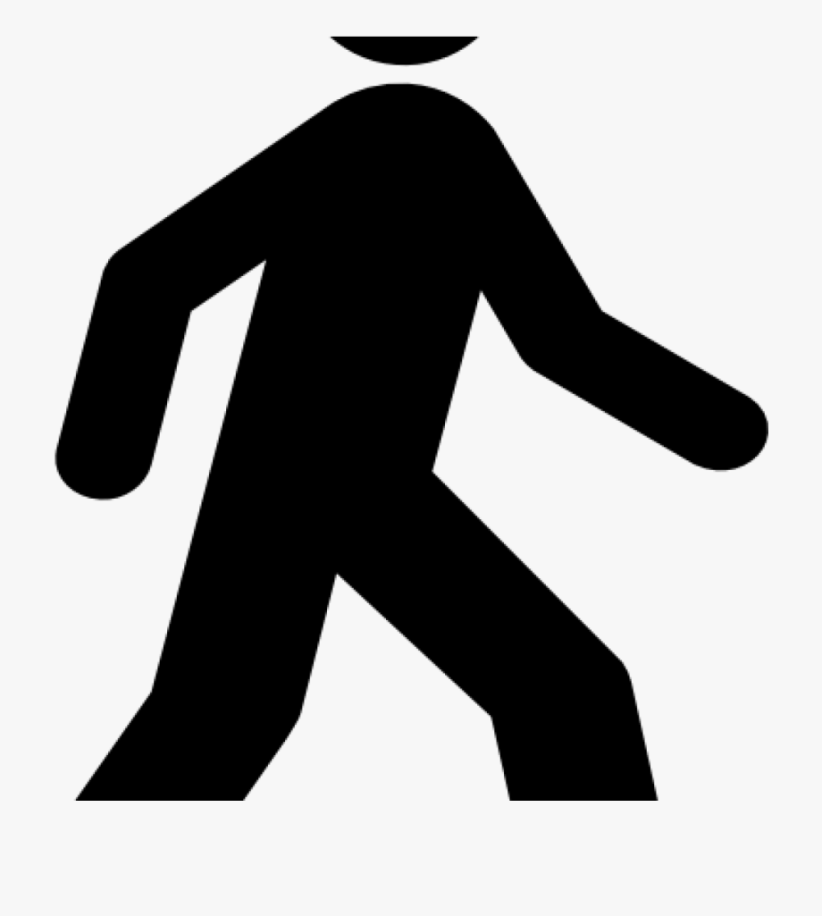 clipart black and white stock Man silhouette png . Person walking clipart