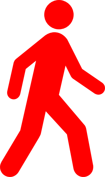 image transparent stock Person walking clipart. Man red clip art