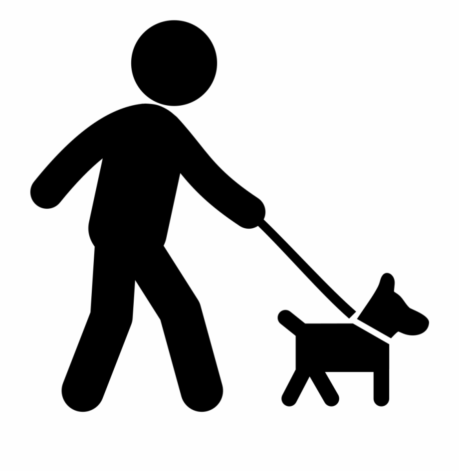 png free stock Person walking dog clipart. Stick figure family man.