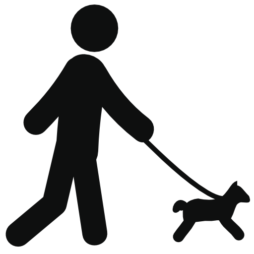 vector freeuse download Person walking dog clipart. Man silhouette at getdrawings.