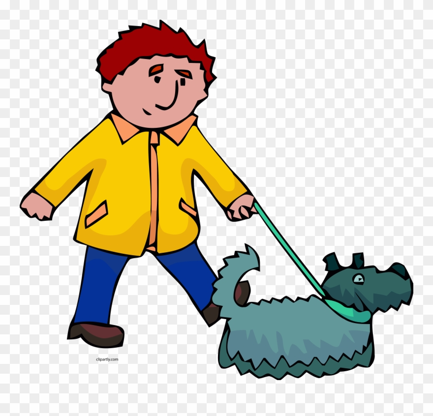 clip transparent download Man and png clip. Person walking dog clipart.