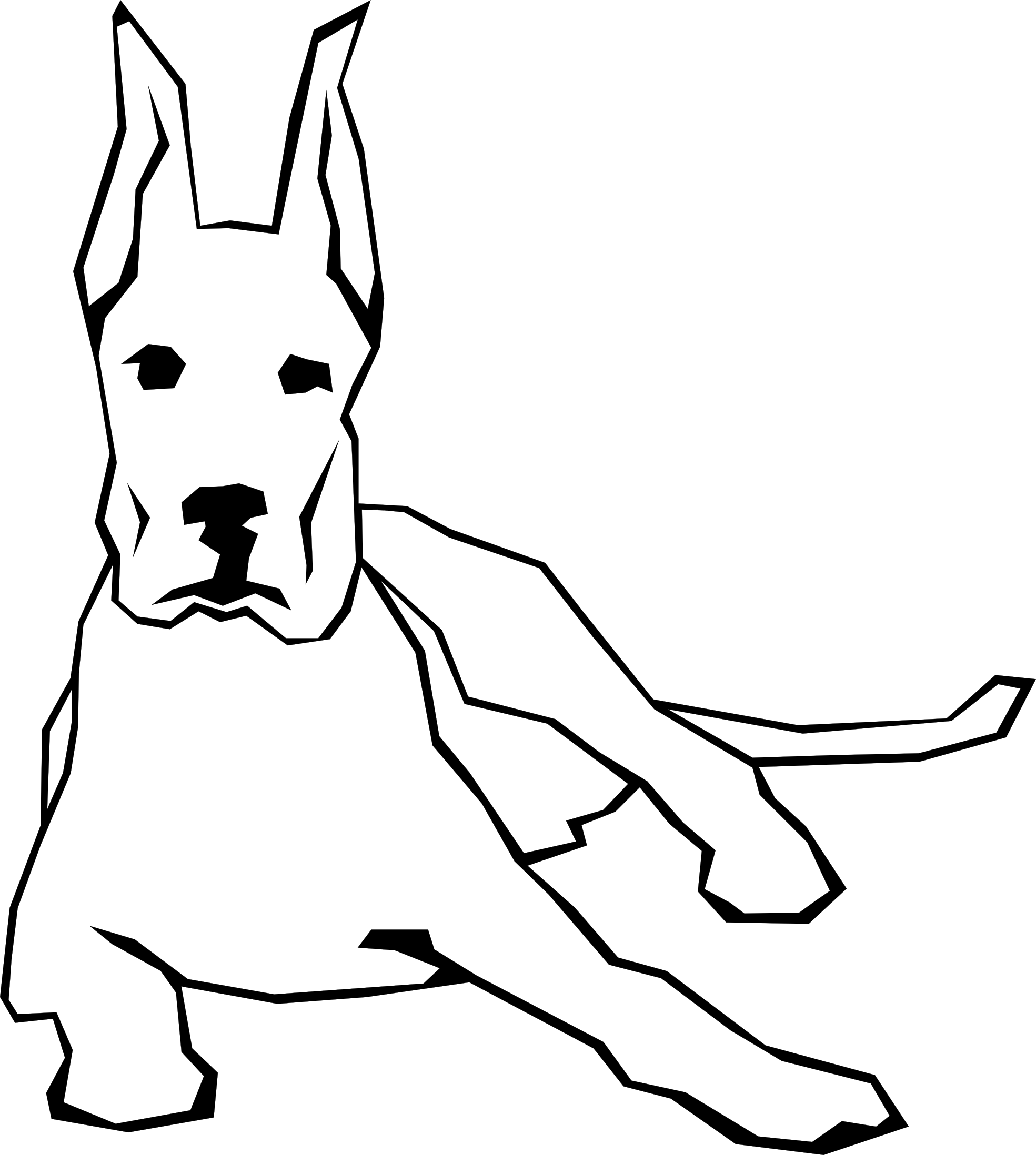 clip free download Dog Simple Drawing