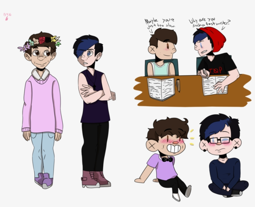 graphic black and white library Phan transparent. Dan and punk phil