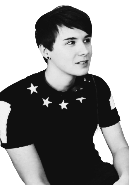 clip art black and white Image about black and white in Dan and Phil by