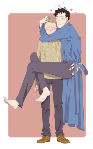 royalty free stock Just like clockwork johnlock. Phan transparent fluff