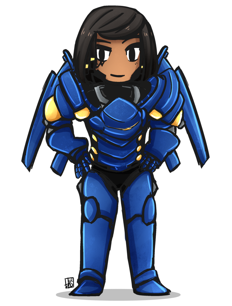 banner royalty free stock Pharah by pHuezo on DeviantArt