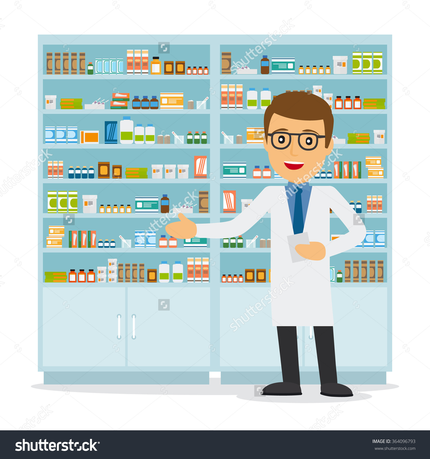 clip art black and white library Pharmacist clipart.  clipartlook.