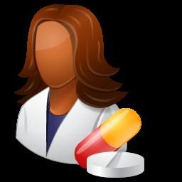image royalty free download Medical Pharmacist Female Dark Icon