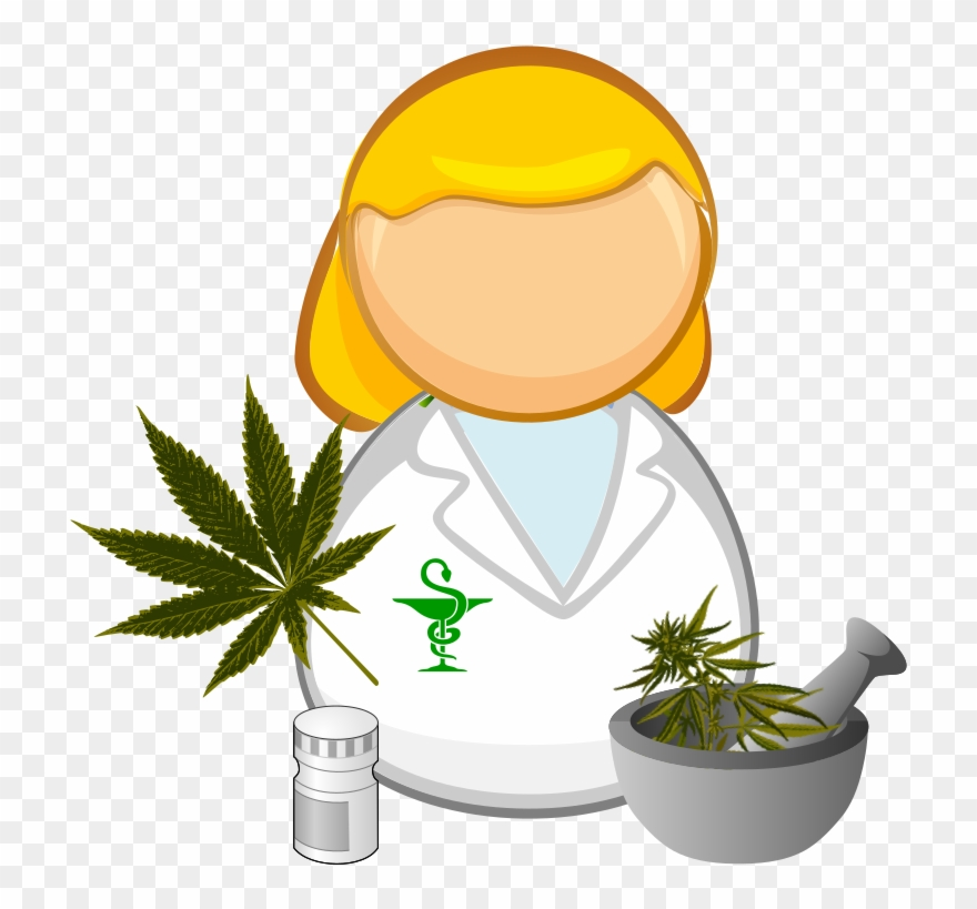 svg royalty free stock Pharmacist clipart medication safety. Medical cannabis prescription medicine