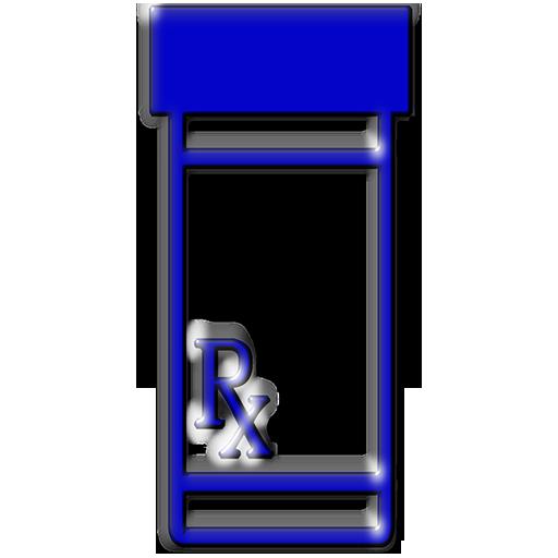 transparent library Blue prescription vial clipart image