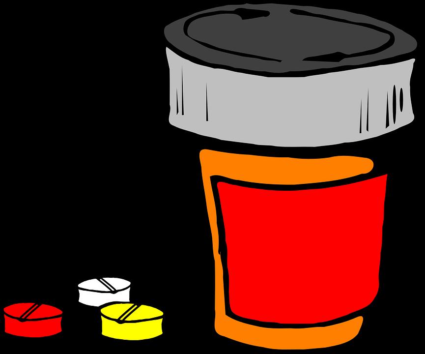 graphic stock Pharmacist clipart pill bottle