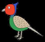 svg transparent stock Green Pheasant