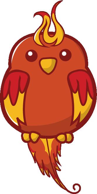 clipart free stock Cute Phoenix Cartoon