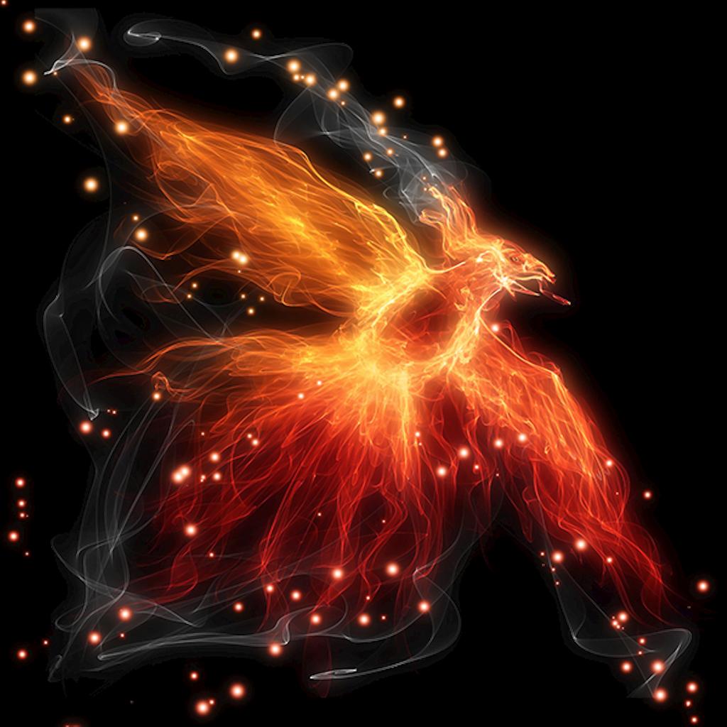 svg free stock pheonix drawing fire phoenix #101206522