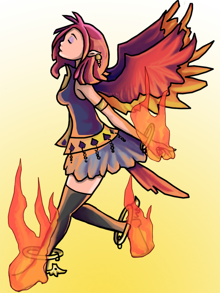 banner free download Phoenix Girl by InstantCereal on DeviantArt