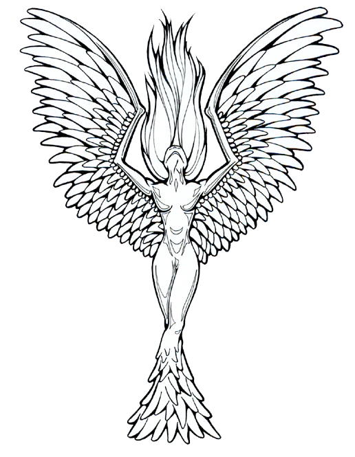 clipart royalty free stock Phoenix of Stone