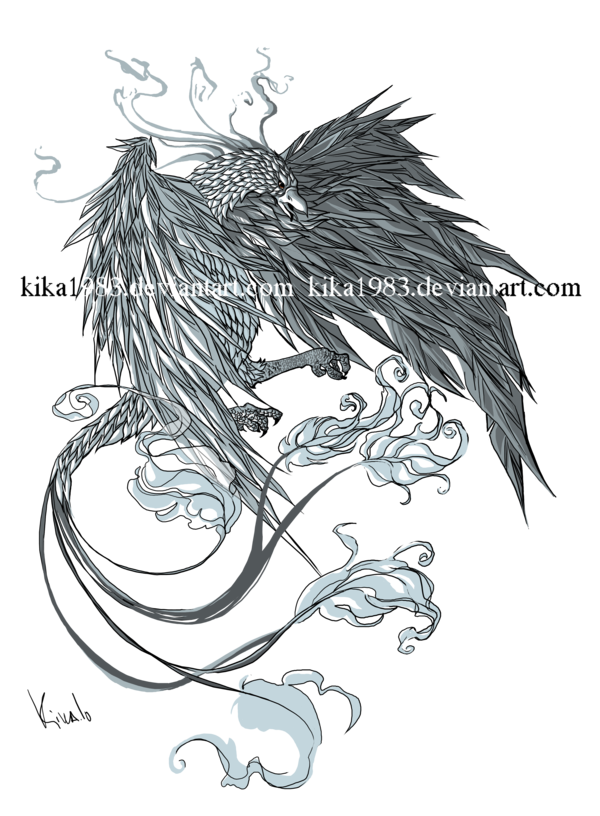 vector transparent library Phoenix tattoo