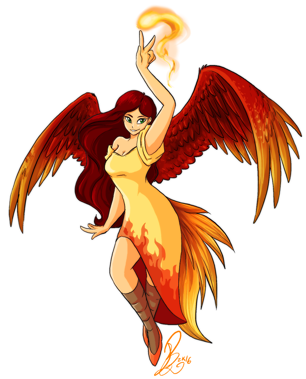 freeuse download pheonix drawing woman phoenix #101203360