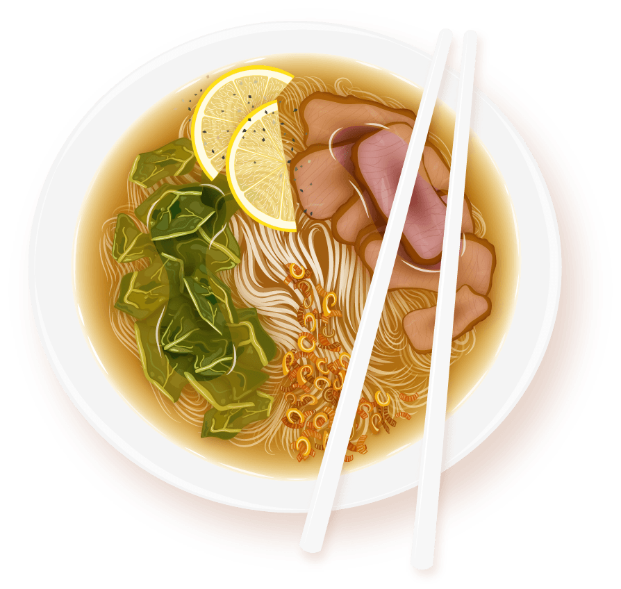 clipart black and white stock noodles drawing pho bowl #100458001