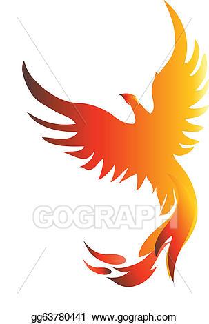 jpg free Phoenix clipart. Vector art drawing gg.