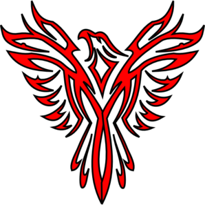 graphic freeuse library Red Phoenix Clip Art at Clker