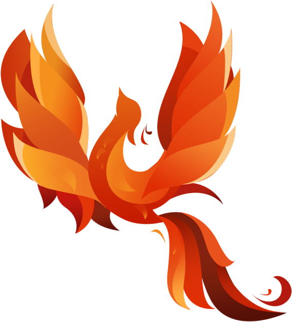 clip royalty free download pheonix drawing burning #101202717