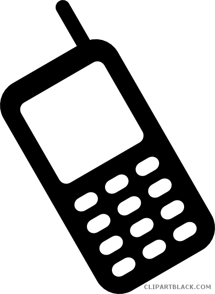 clip art black and white Phone clipart black and white. Cell clipartblack com tools