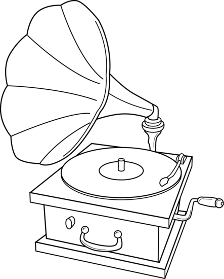 png royalty free library Phonograph drawing. Record player clip art.