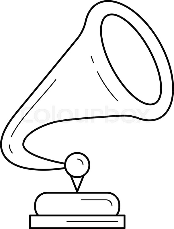 clipart royalty free At paintingvalley com explore. Phonograph drawing.